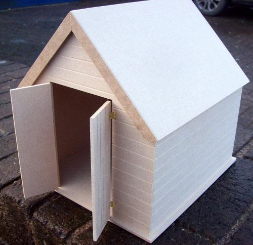 1:24 Scale Small Flat Pack MDF Wood Shed Set tumdee Dolls House Miniature